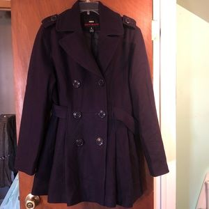 Miss Sixty Double Breasted Wool Pea Coat